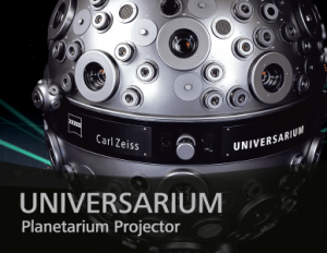 ZEISS UNIVERSARIUM MODEL IX is the most powerful planetarium instrument from ZEISS. UNIVERSARIUM is designed for large domes and multimedia star theaters as well as for horizontal and tilted domes. Thanks to the high brightness of all projections, even projection domes with a very low degree of reflection can be used.